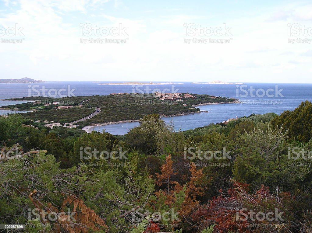 sardinia landscape cala di volpe stock photo