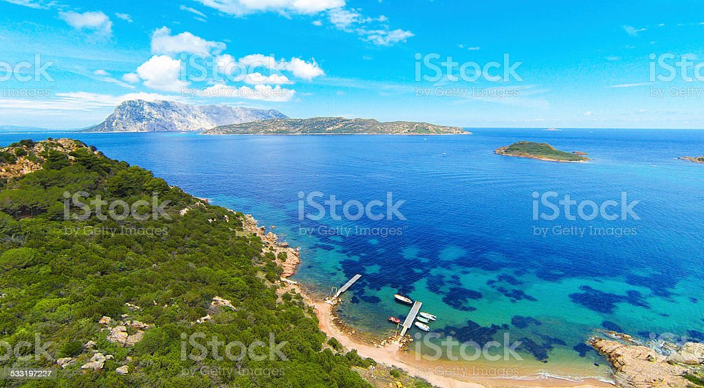 sardinia's eastern coast stock photo