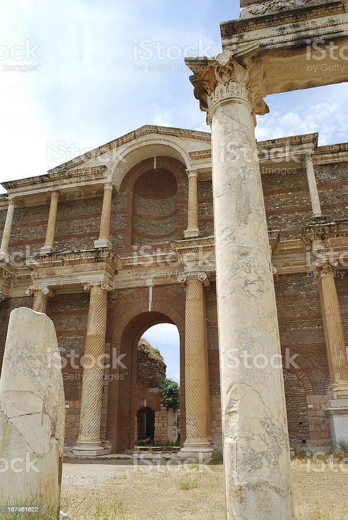 Sardis ancient city royalty-free stock photo