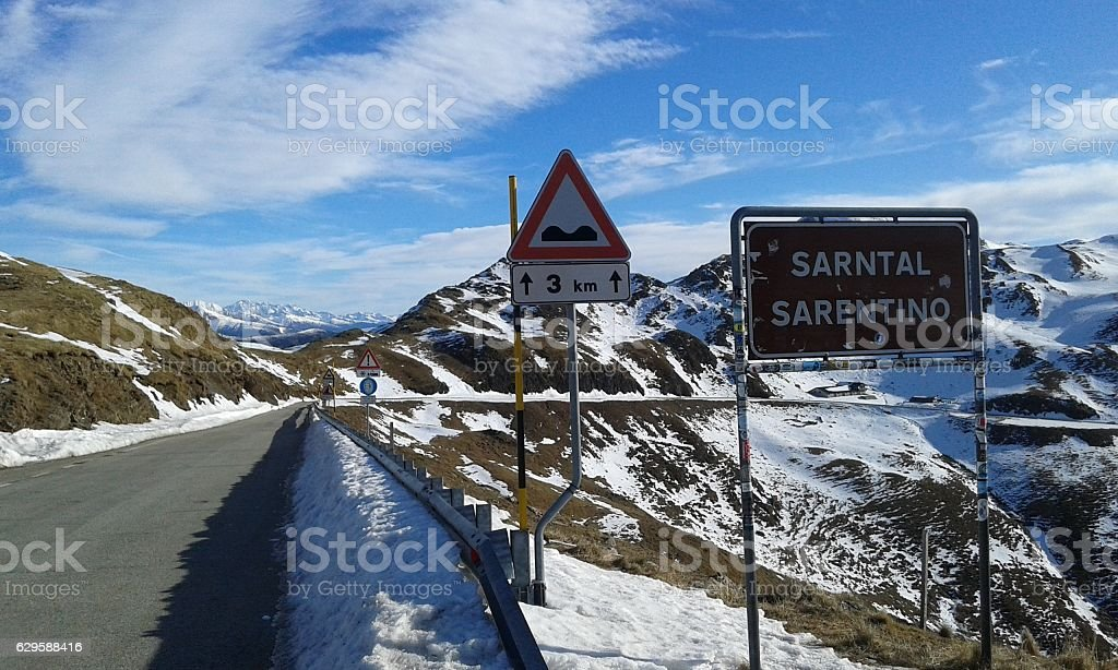 Sarentino Valley, Southtyrol, 5th of December 2016 stock photo