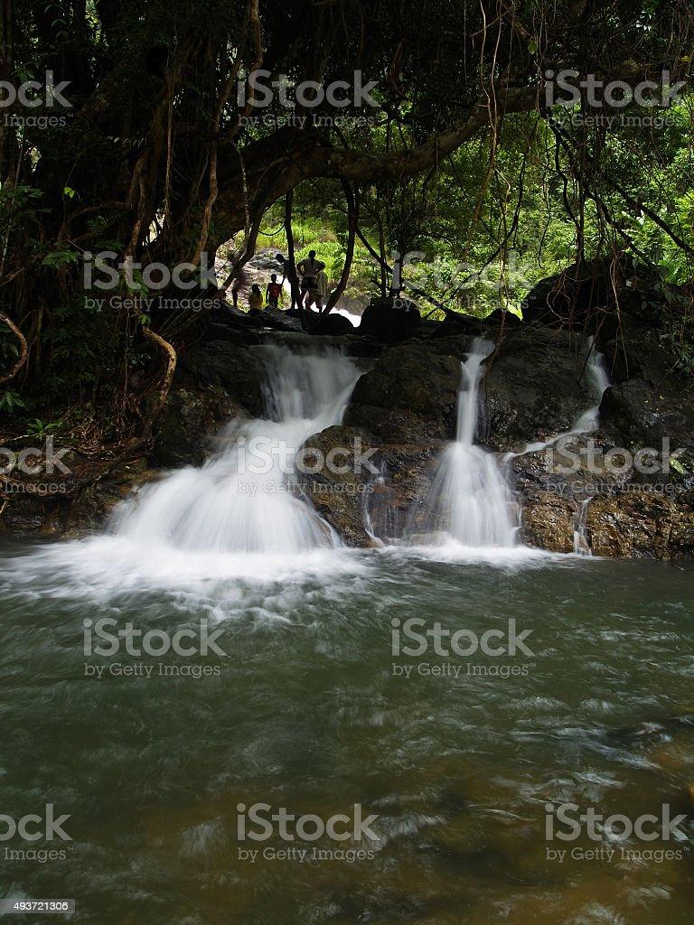 Sarika waterfall stock photo