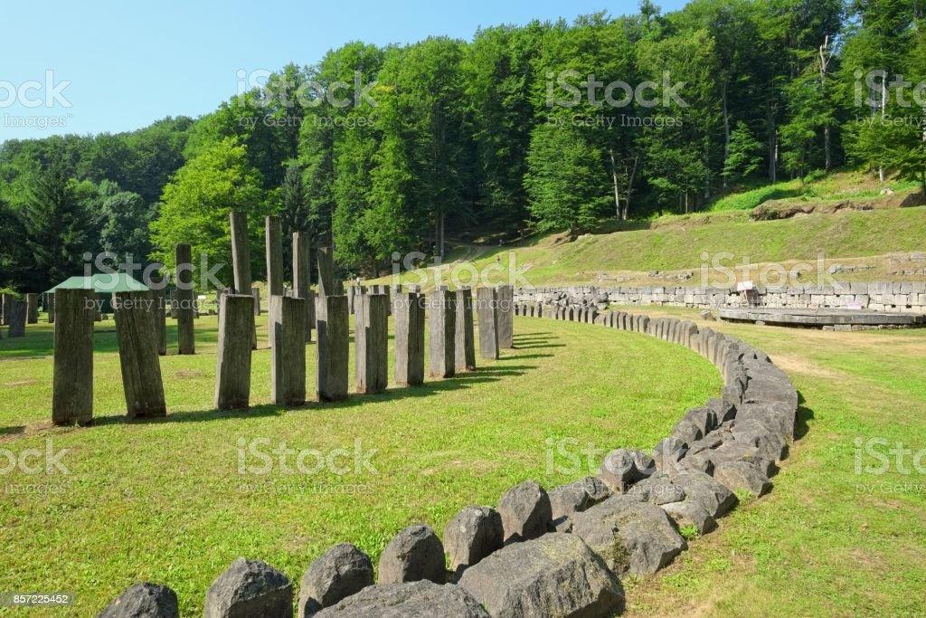 Sarmizegetusa Regia, Romania stock photo