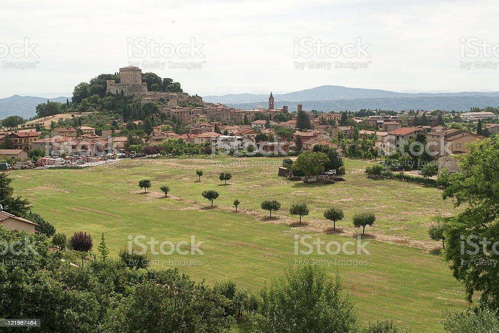 Sarteano (Siena, Tuscany, Italy), old village with castle stock photo