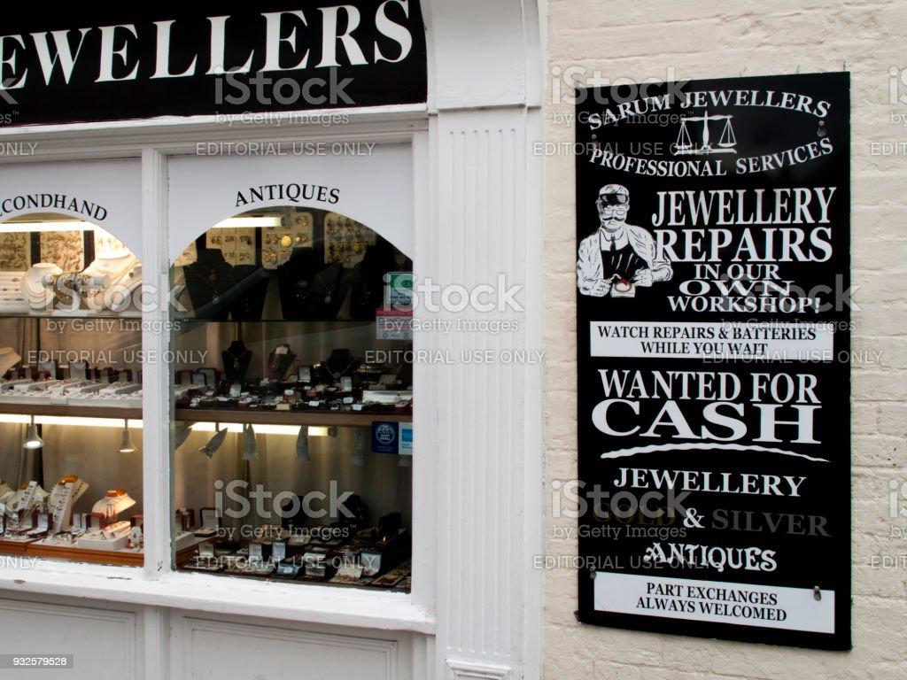 Sarum jewellers stock photo