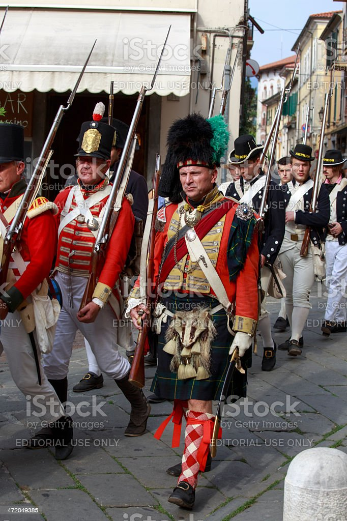 Sarzana Napoleon festival royalty-free stock photo