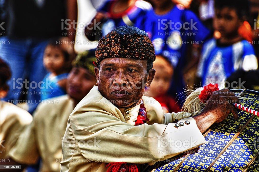 Sasak Male Dancer stock photo