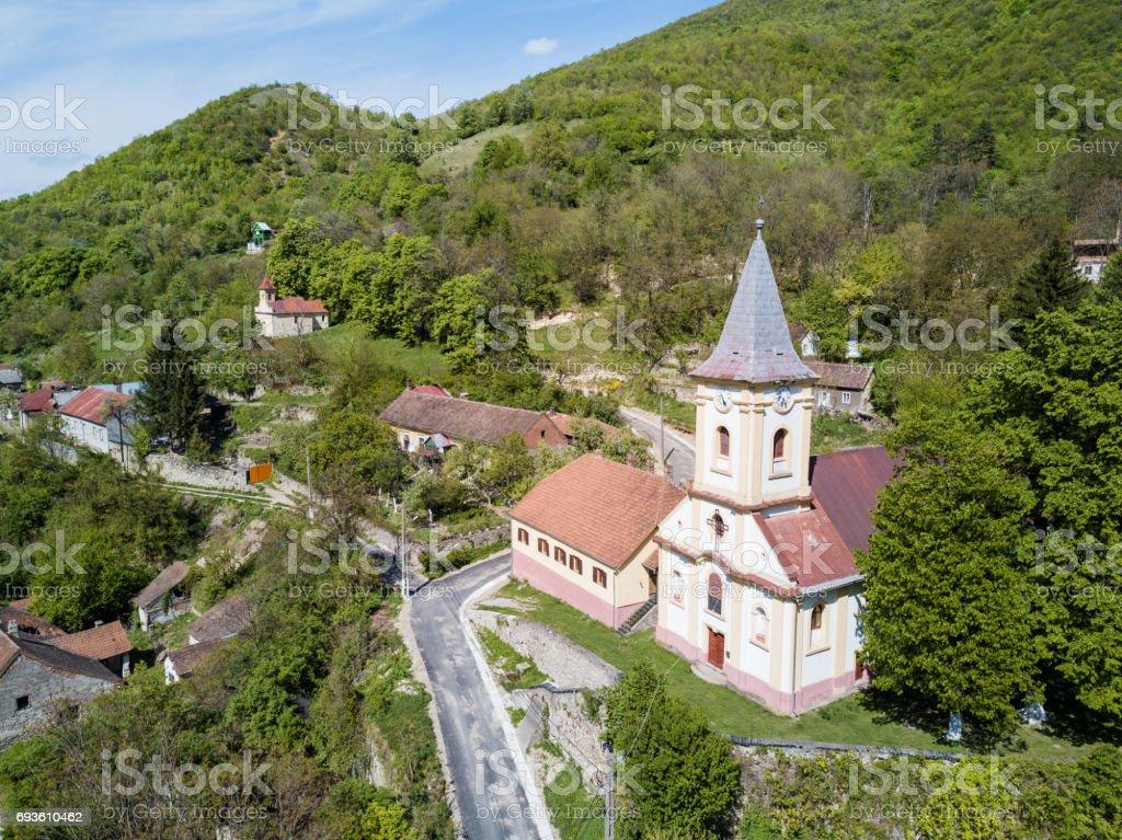 Sasca Montana village près de Parc National de Cheile Nerei Roumanie - Photo