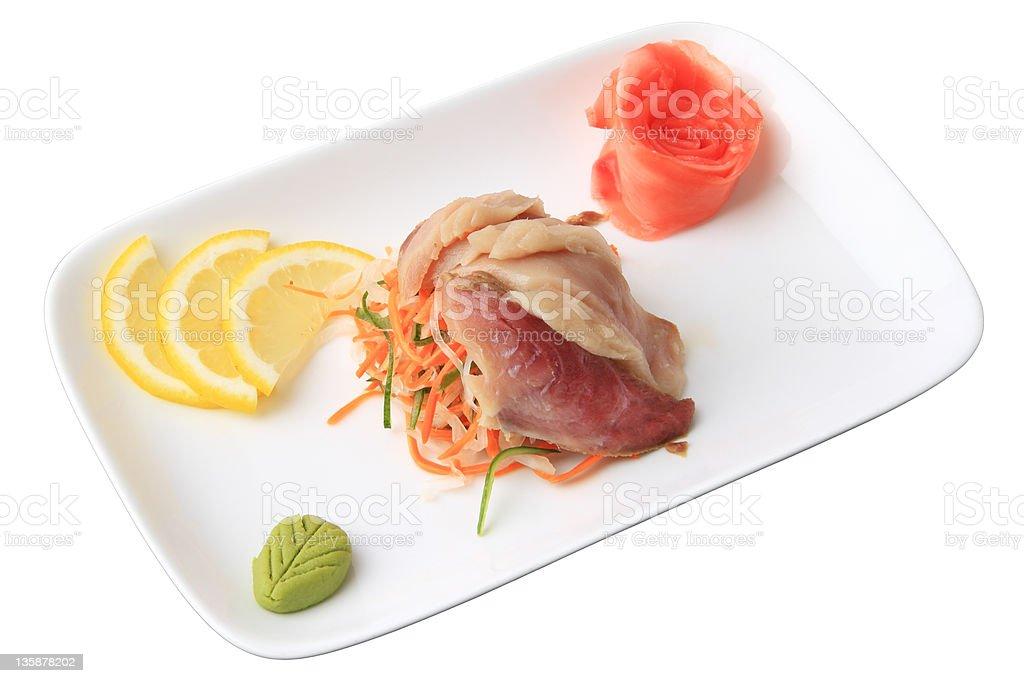 sashimi hamachi royalty-free stock photo