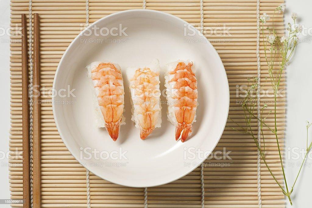 sashimi hand roll royalty-free stock photo