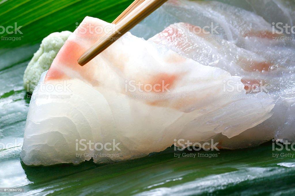 Sashimi of sea bream stock photo
