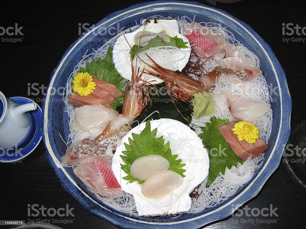 Sashimi (Ikezukuri) royalty-free stock photo