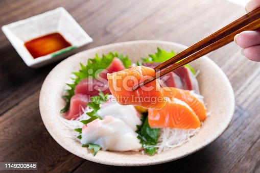 Japanese food mixed sashimi