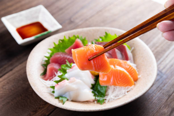 Sashimi Plate Japanese food mixed sashimi tuna seafood stock pictures, royalty-free photos & images
