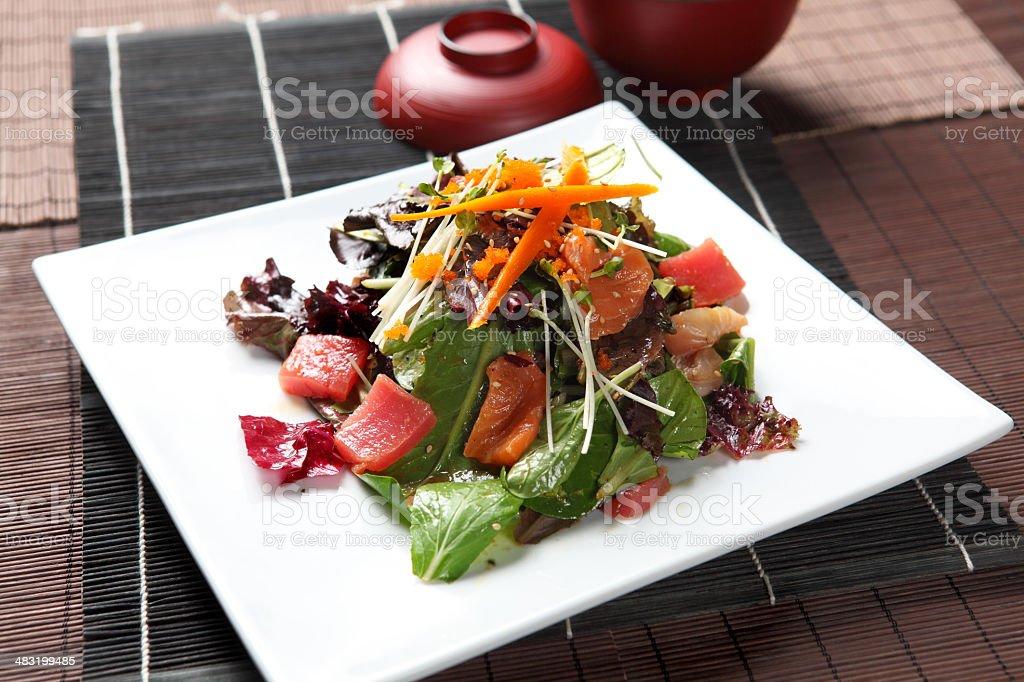Sashimi Salad stock photo