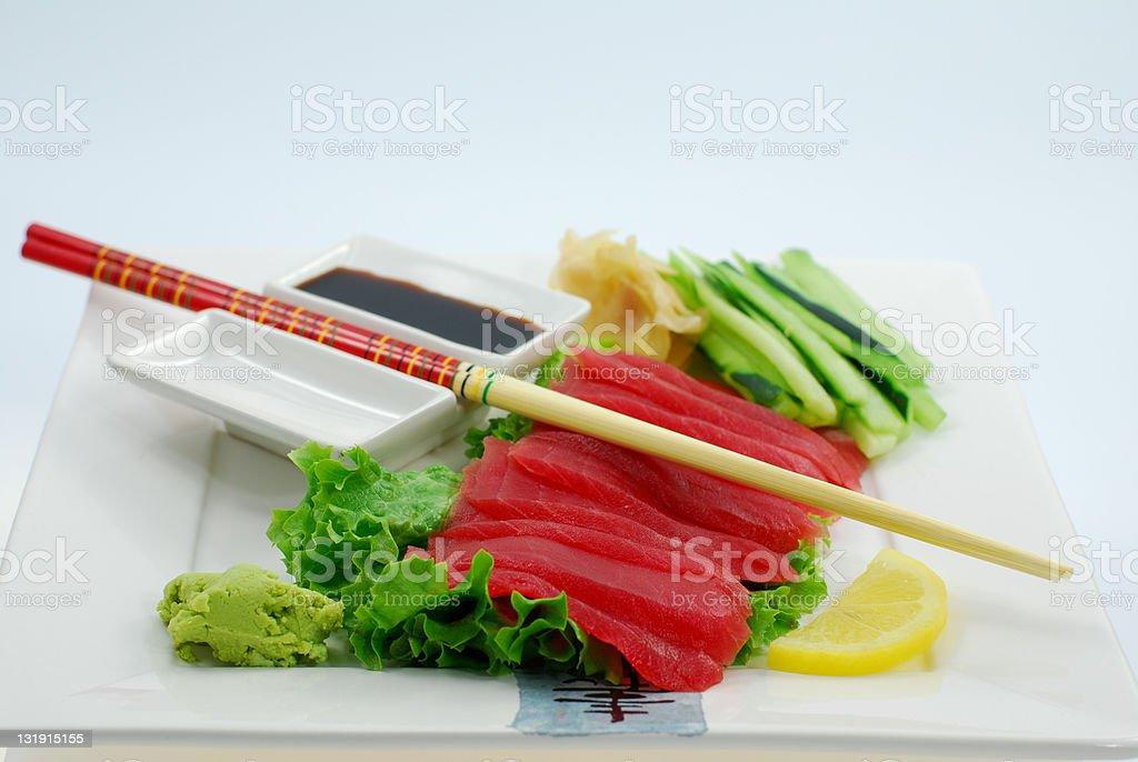 Sashimi Tuna royalty-free stock photo