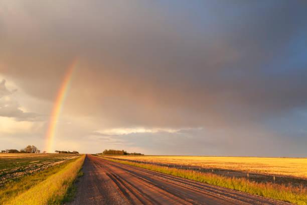 Saskatchewan Canada Storm Chasing stock photo