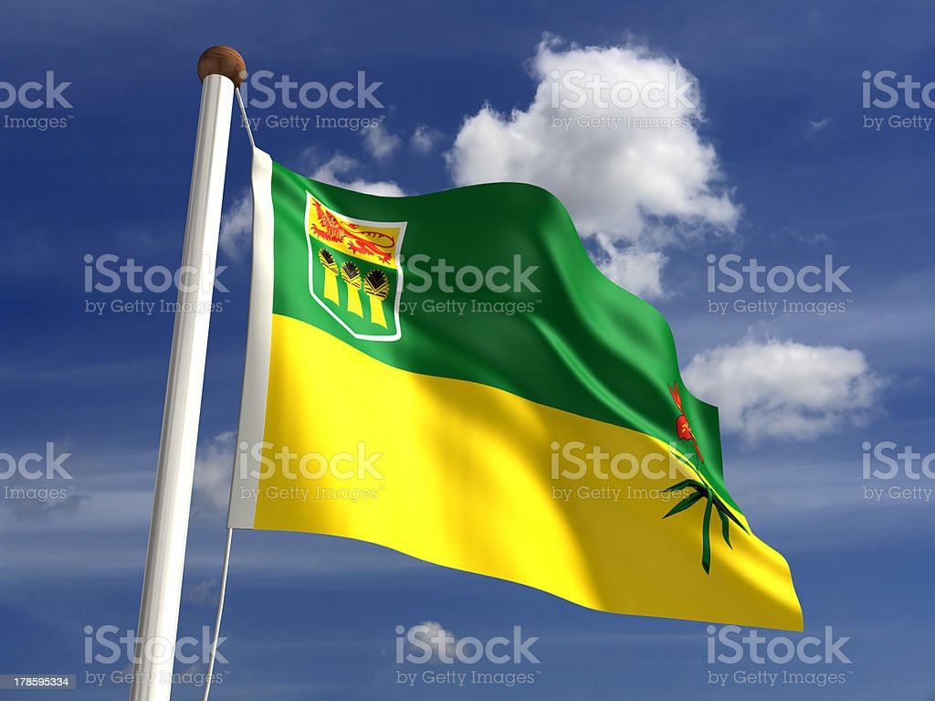 Saskatchewan flag Canada stock photo