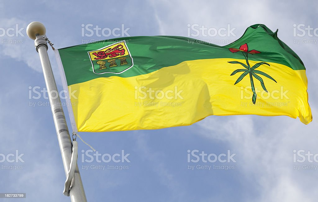 saskatchewan flag stock photo