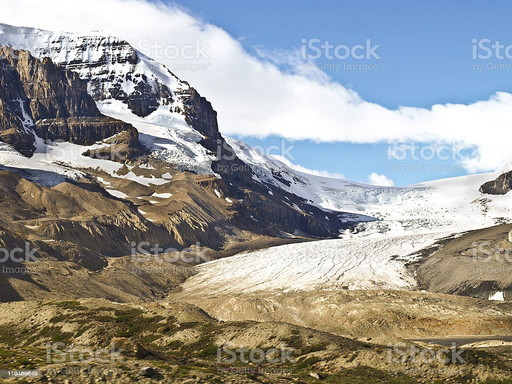 Saskatchewan Glacier Banff national park canada stock photo