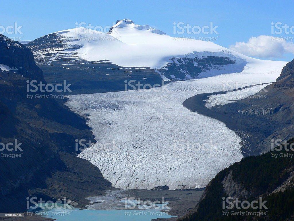 Saskatchewan Glacier stock photo