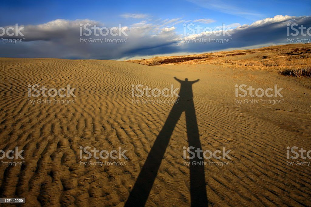 Saskatchewan Great Sand Hills royalty-free stock photo