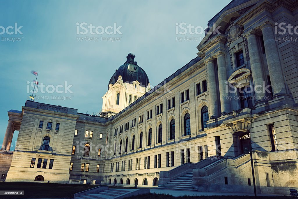 Saskatchewan Legislative Building in Regina stock photo