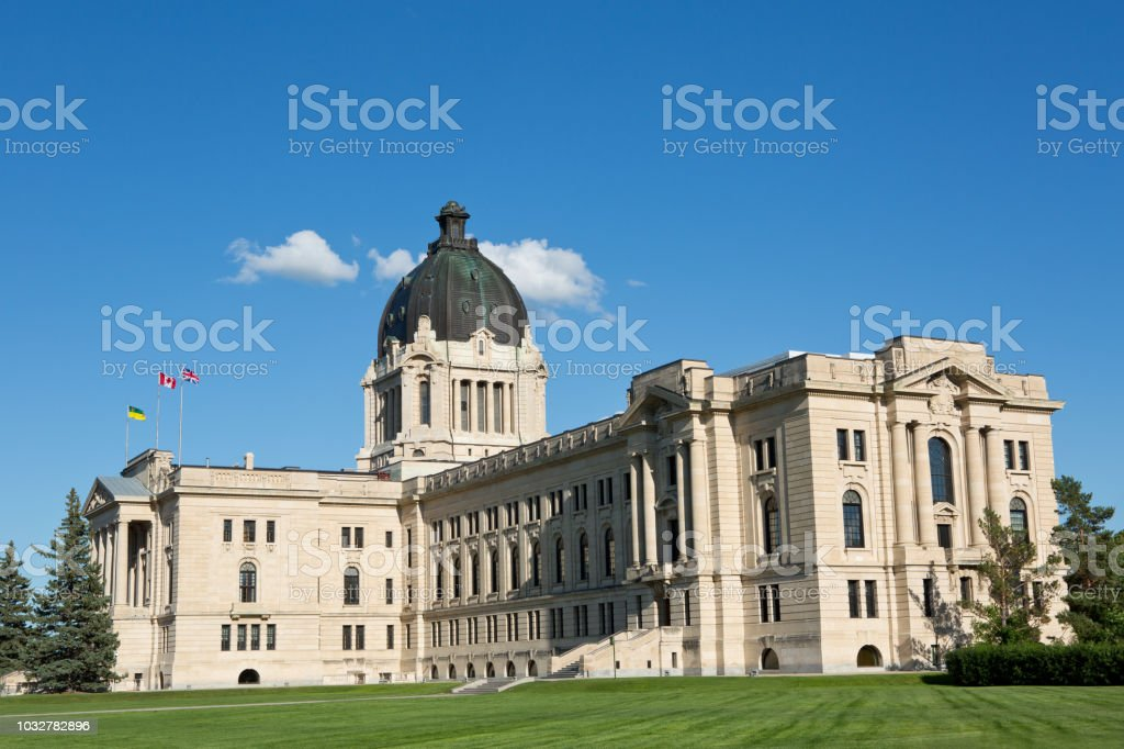 Saskatchewan Legislative Building Regina stock photo