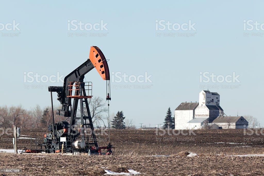 Saskatchewan Oil stock photo