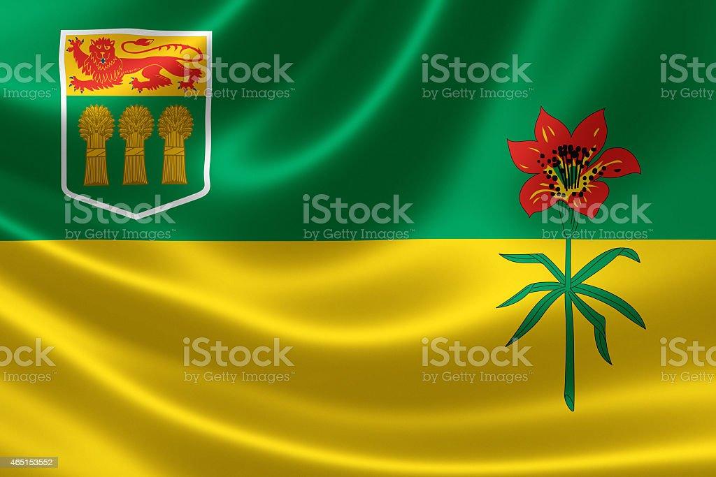 Saskatchewan Provincial Flag of Canada stock photo