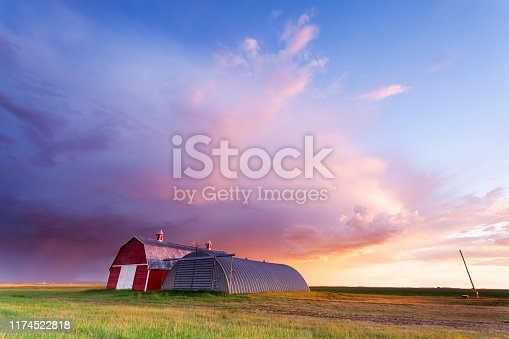 South Saskatchewan, Tail end of a summer storm, Image taken from a tripod.
