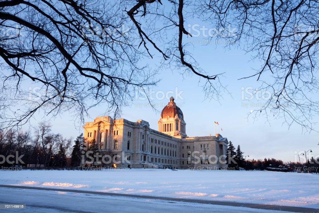 Saskatchewan Regina Legislature Building stock photo