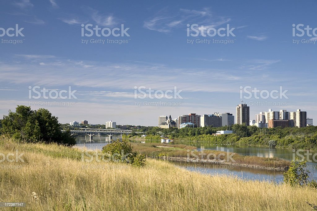 Saskatoon River in Early Fall royalty-free stock photo