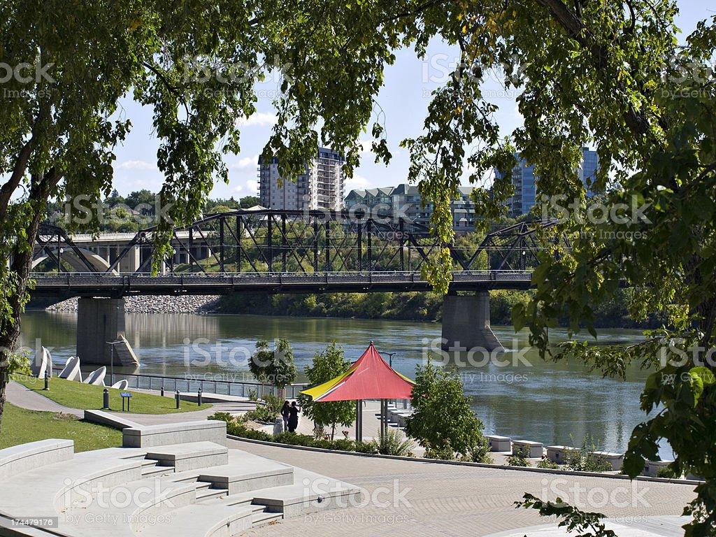 Saskatoon River Landing royalty-free stock photo