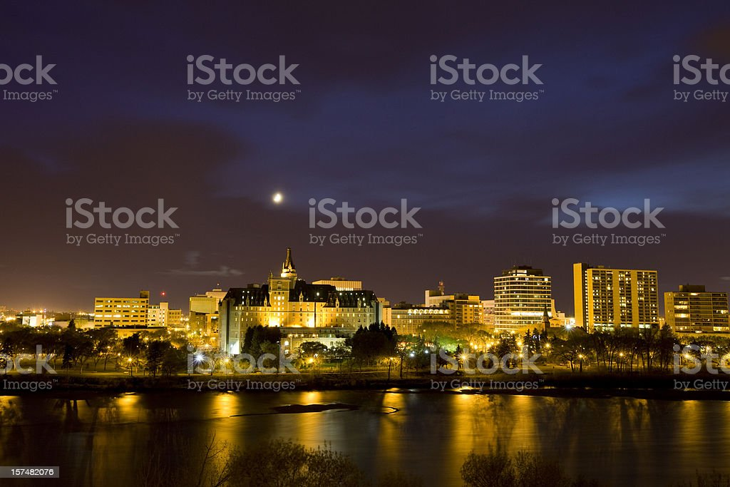 Saskatoon skyline royalty-free stock photo
