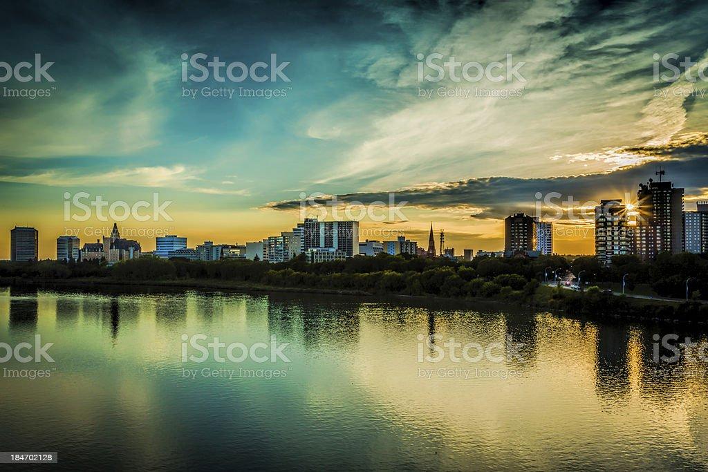 Saskatoon Skyline stock photo
