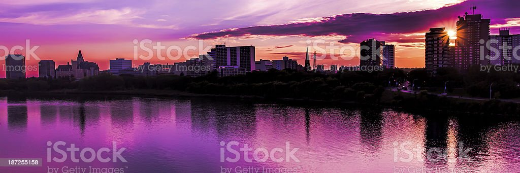 Saskatoon Skyline royalty-free stock photo