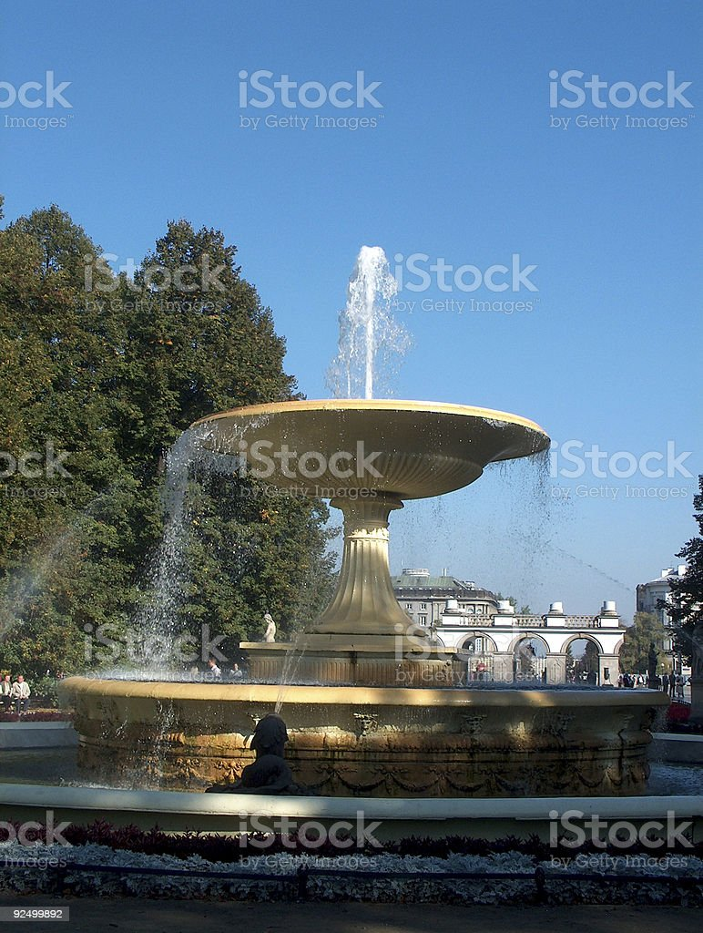 Saski Garden in Warsaw royalty-free stock photo