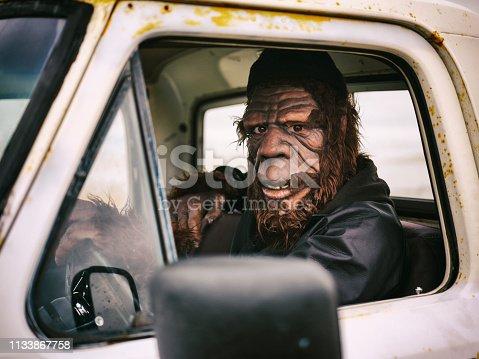 istock Sasquatch Truck Driver 1133867758