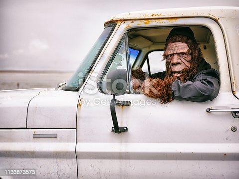 istock Sasquatch Truck Driver 1133873573