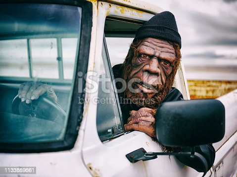 istock Sasquatch Truck Driver 1133889861