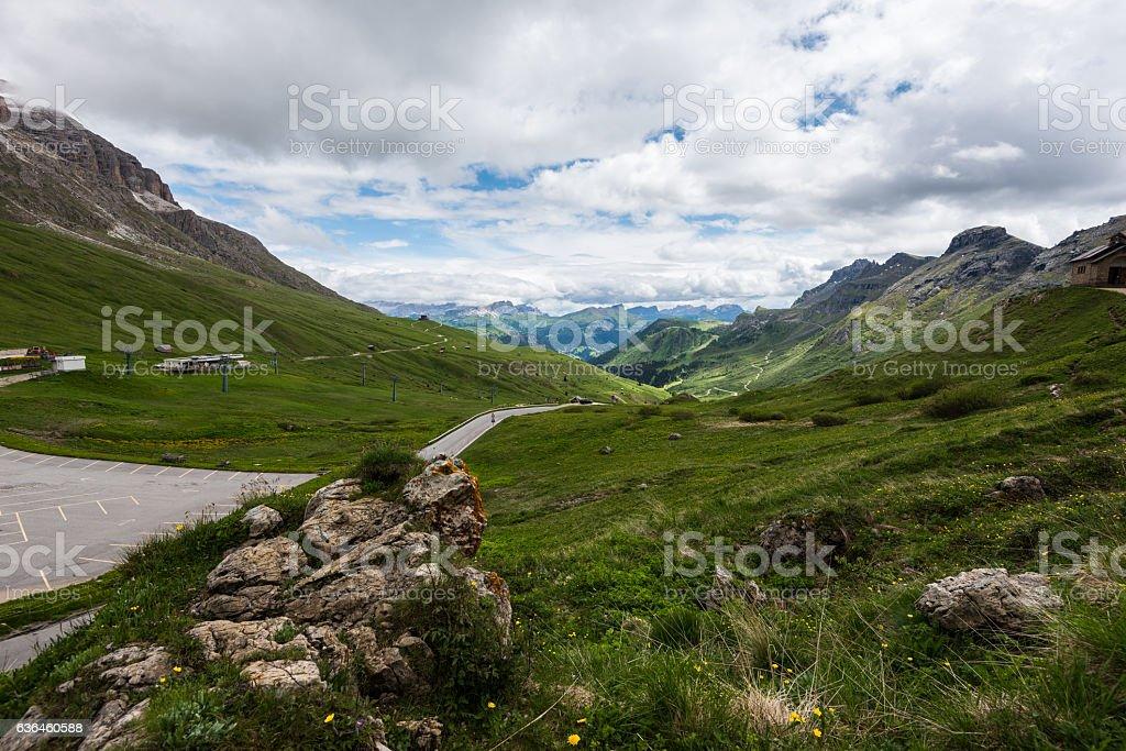 Sass Pordoi (Dolomites) stock photo
