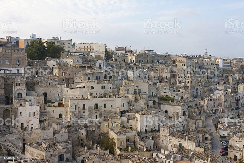 Sassi di Matera, Basilicata, Italy royalty-free stock photo