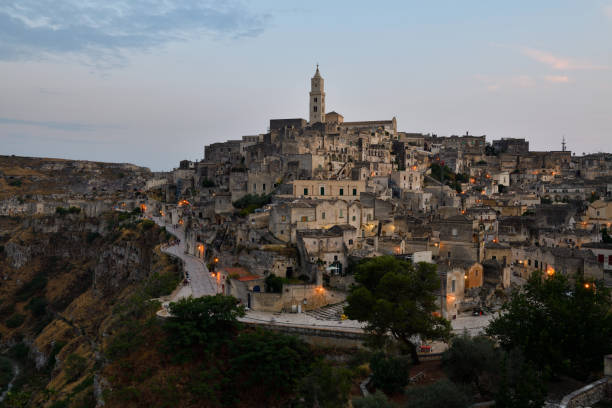 Sassi di Matera (UNESCO world heritage site), Matera, Basilicata, Italy stock photo