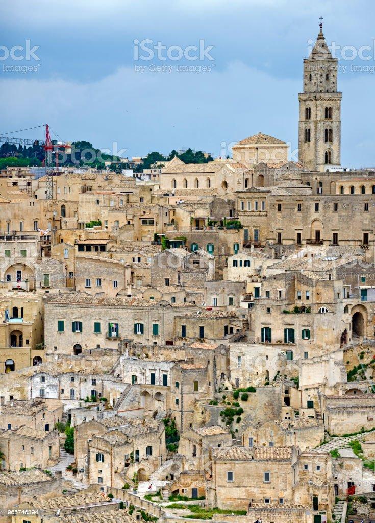 Sasso Barisano at Matera - Royalty-free Architecture Stock Photo