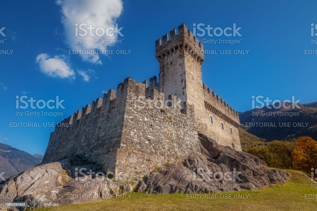 Sasso Corbaro castle of Bellinzona in the canton of Ticino in Switzerland - foto stock