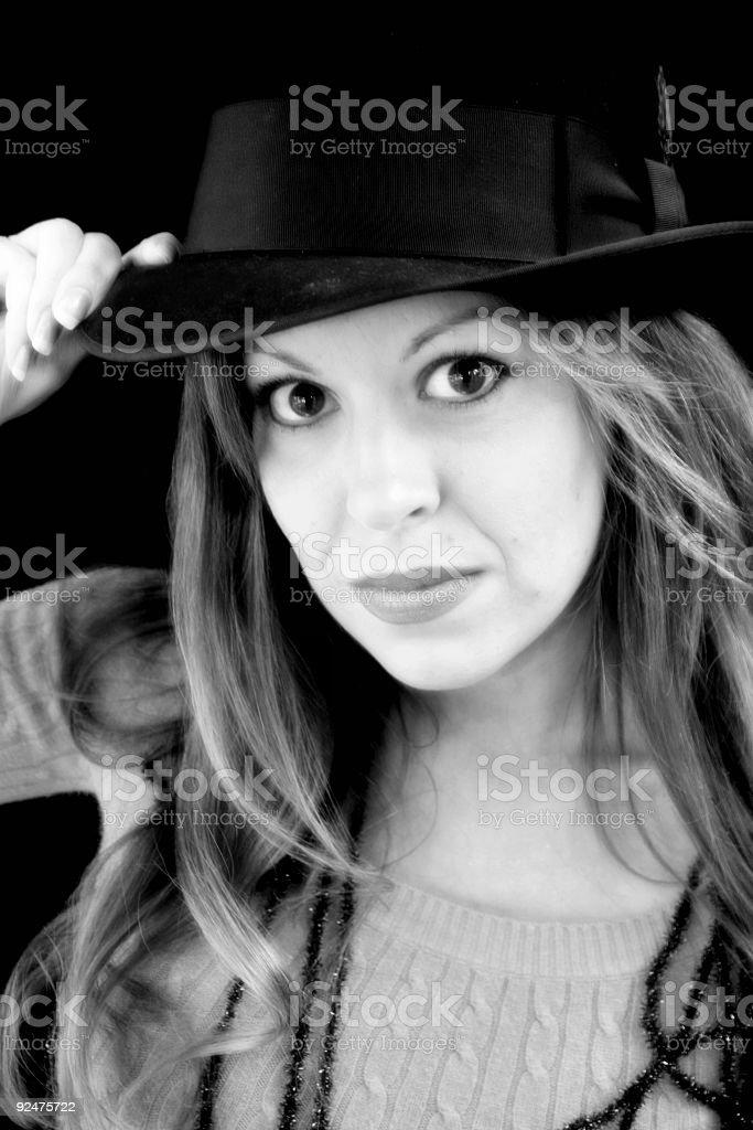 sassy girl royalty-free stock photo