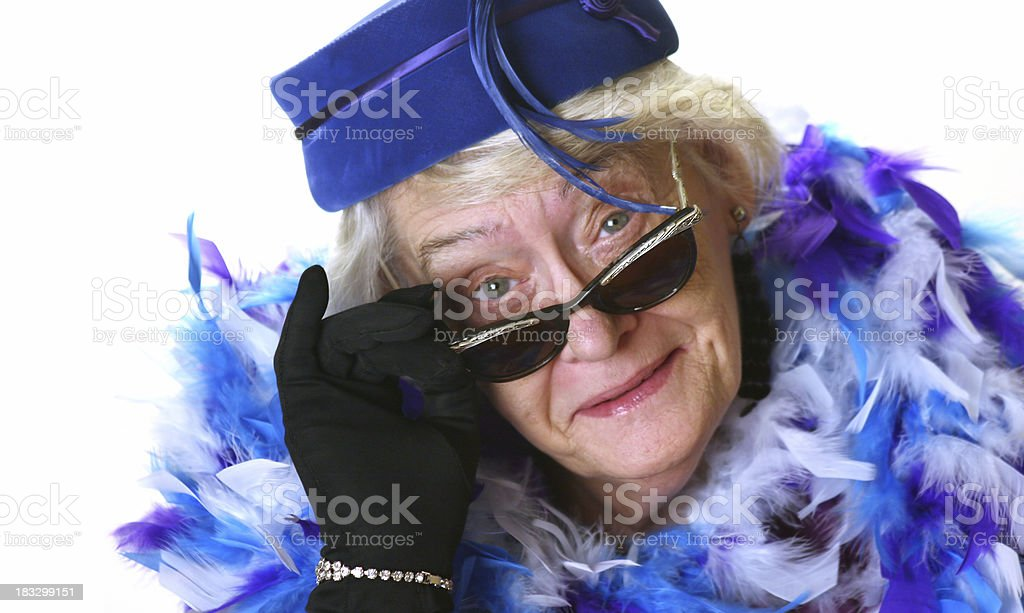sassy grandma royalty-free stock photo