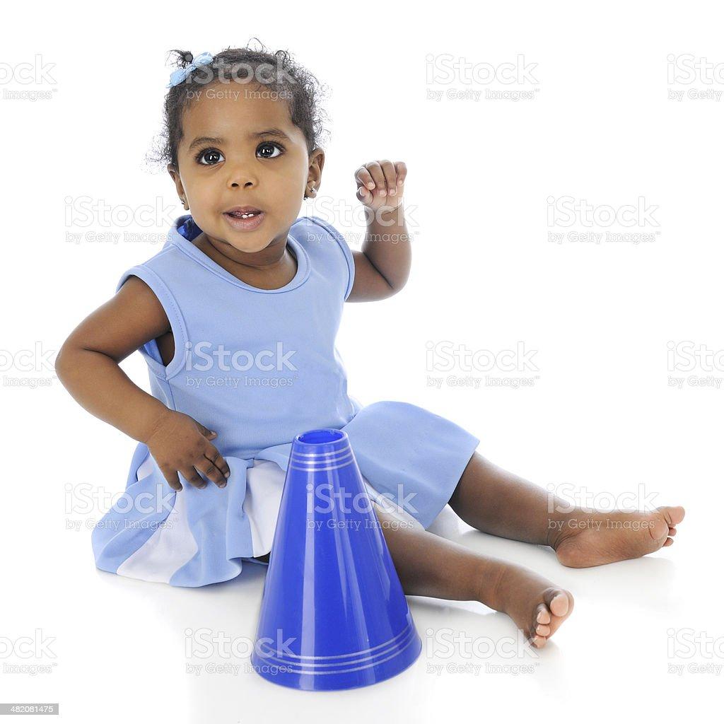 Sassy Little Cheerleader stock photo