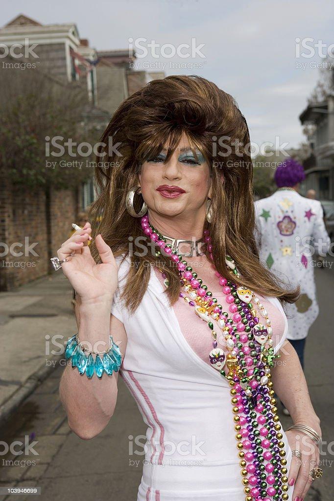 Sassy Tranny pursed lips stock photo