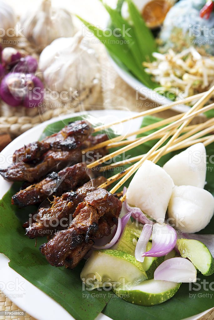 Satay daging. royalty-free stock photo
